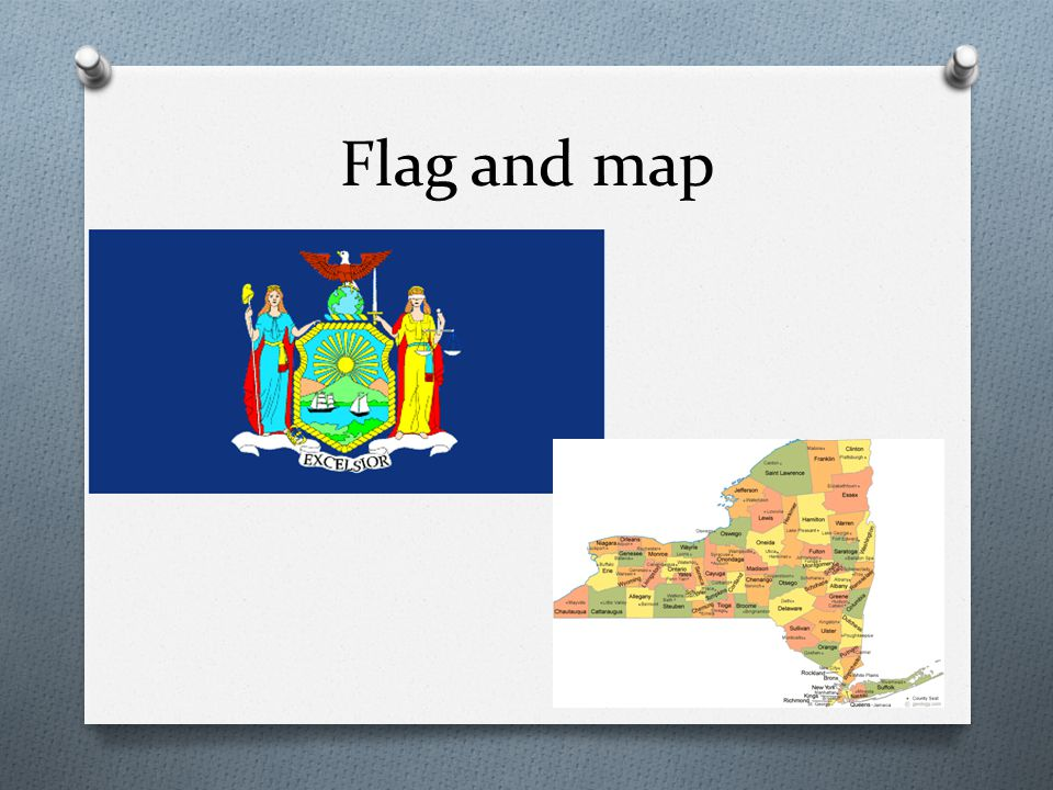 Flag and map