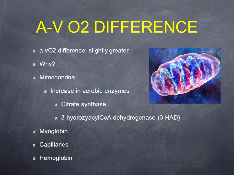 a-vO2 difference: slightly greater Why.