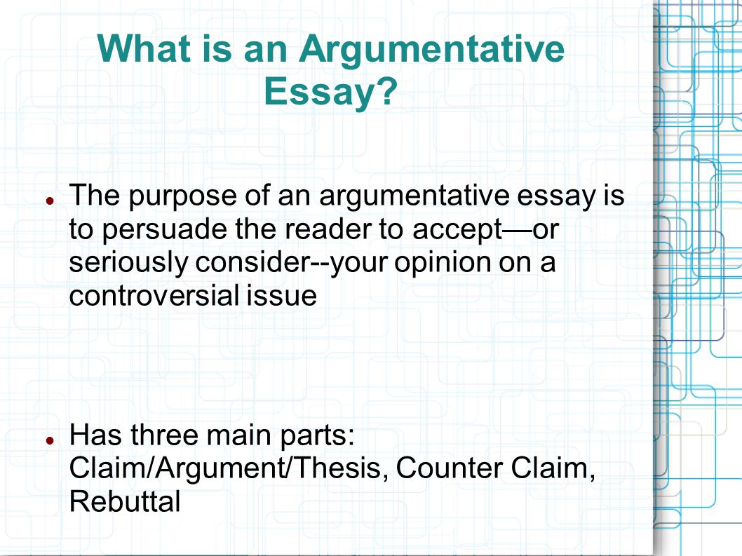 the argumentative essay introducing argument the counterclaim 2 what