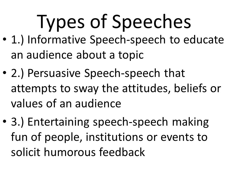 good topics to do an informative speech on