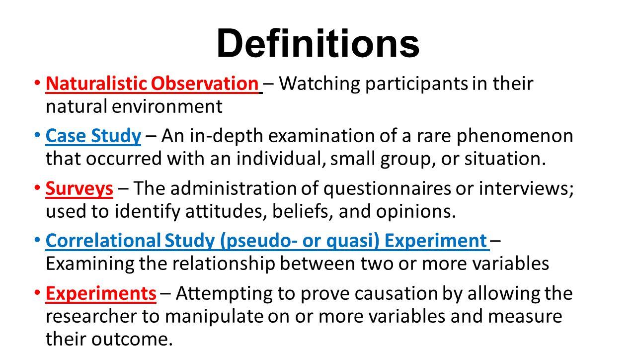 essay on naturalistic observation