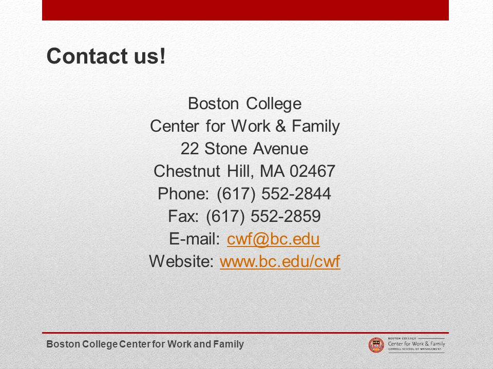 18 Contact us!