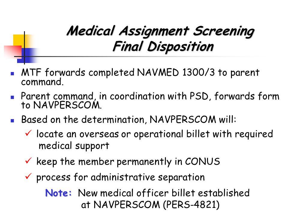 Suitability Screening & Medical Assignment Screening 2006 Patient ...