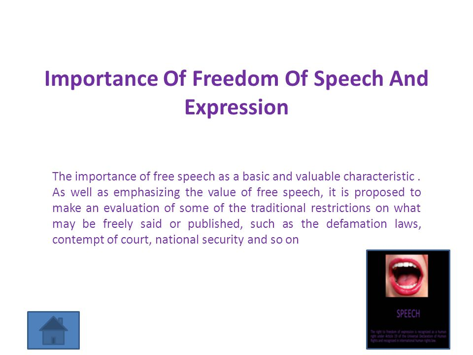 the negatives of absolute free speech essay Censorship and free speech are often seen as being two sides of the same thing  free speech it's typically bad essay form to start a section with a dictionary.