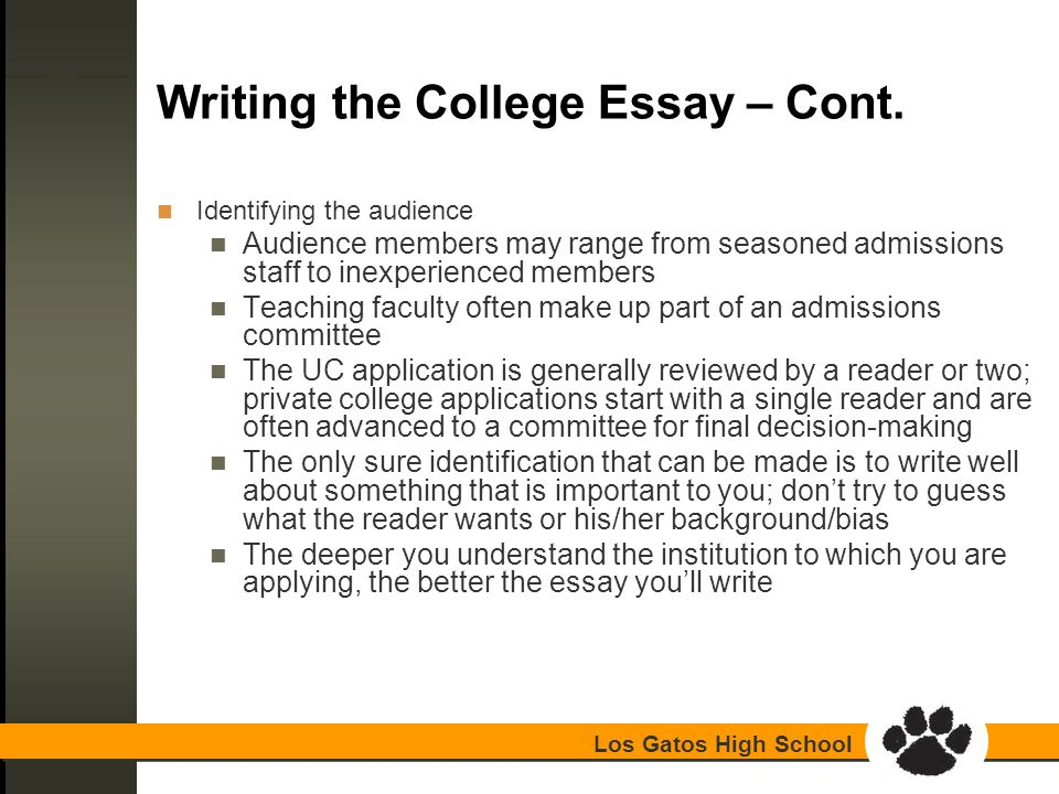 on writing essay for college admission