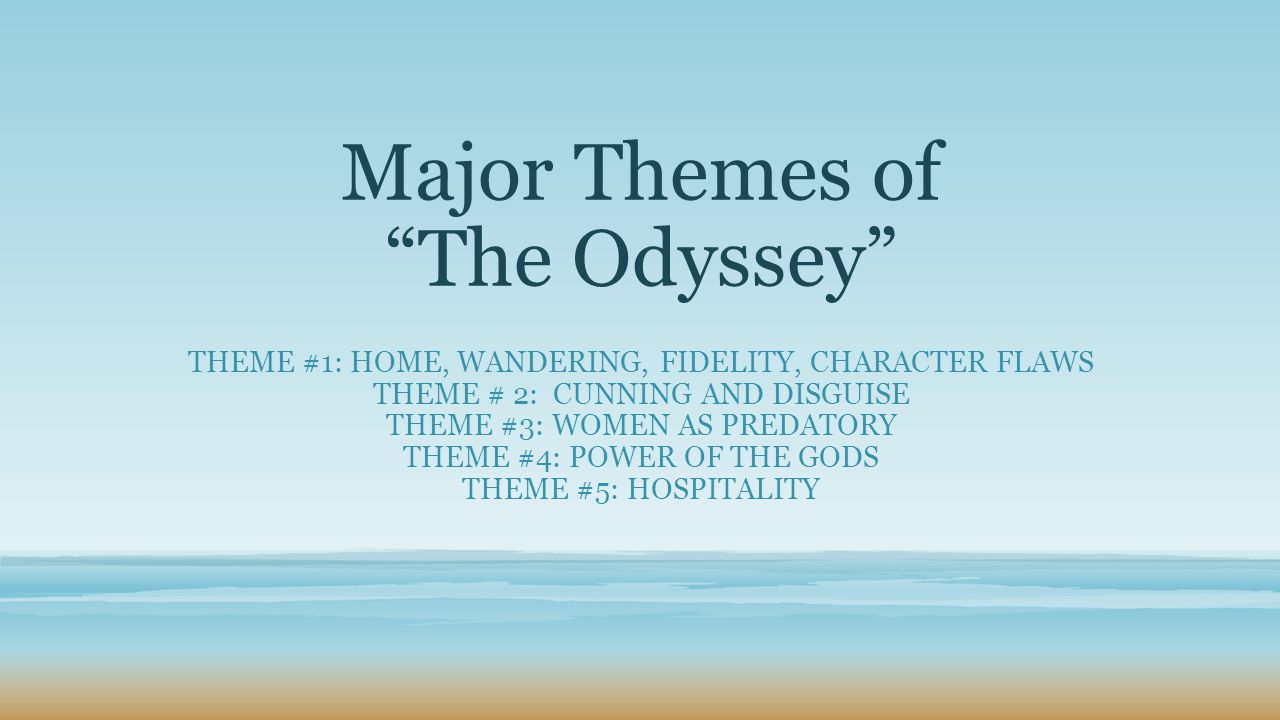 argumentative essay on odyssey Odyssey thesis statement - a-block so the structure of your argument is clear how will your essay be structured.