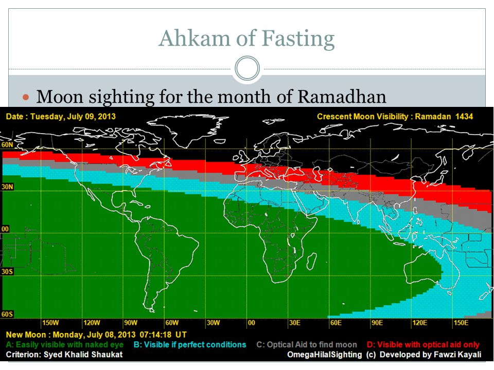 Ahkam of Fasting Moon sighting for the month of Ramadhan