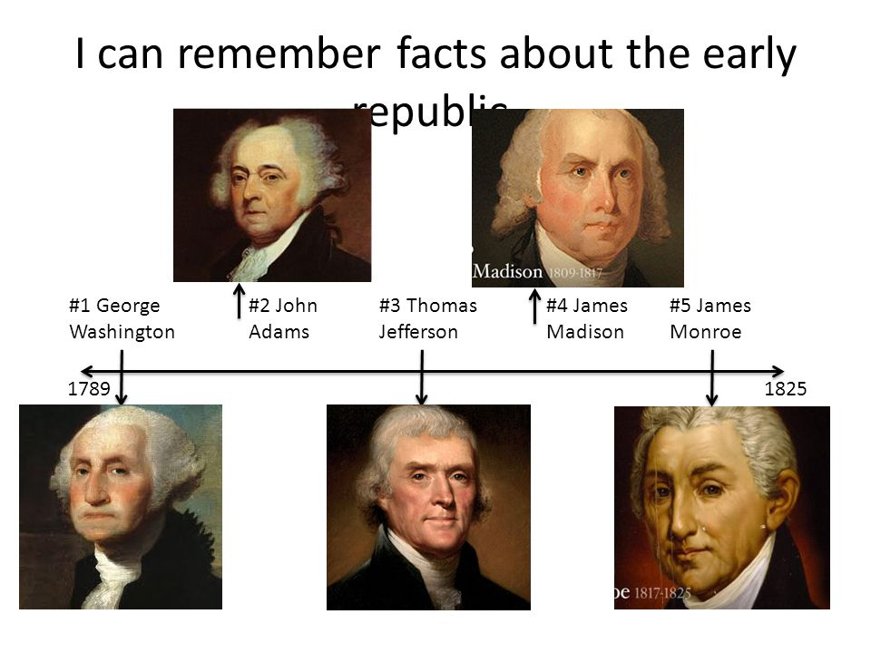 The Early Republic WARM UP: Do you know the first five presidents ...