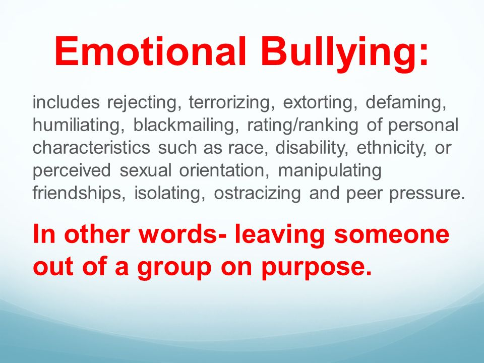 emotions bullying and violent video games The violent video games are also the more (areas that control emotions video games don't make people violent, bullying and abuse make people.