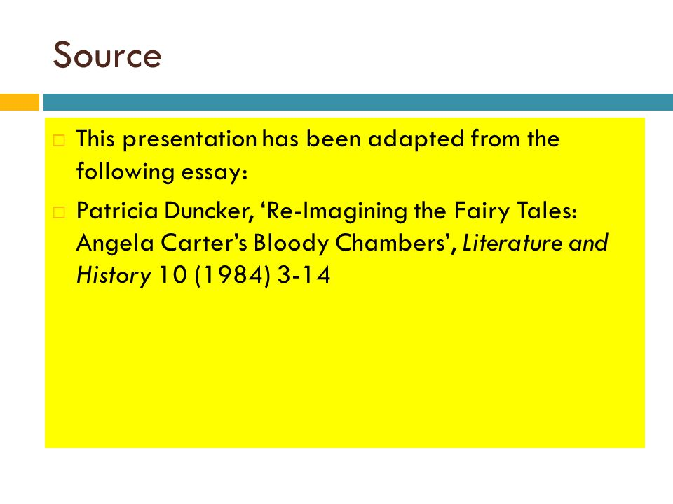 Essay about Fairytales?