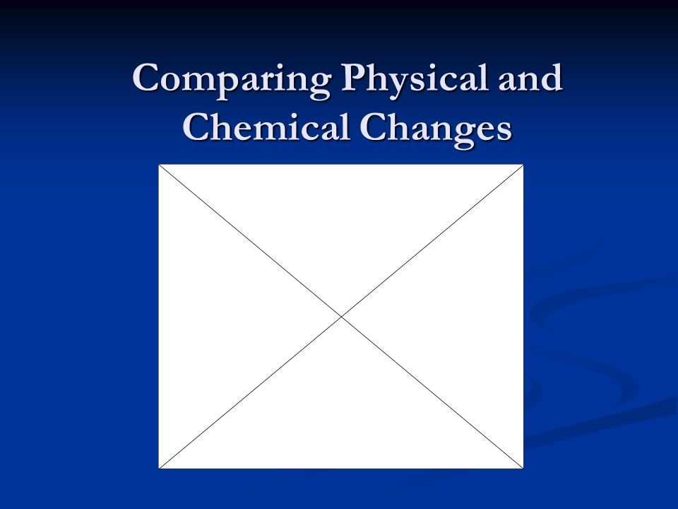 Comparing Physical and Chemical Changes