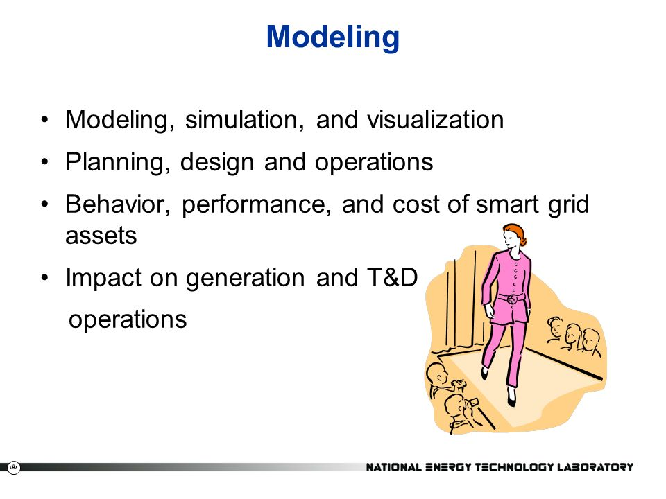 25 Modeling Modeling, simulation, and visualization Planning, design and operations Behavior, performance, and cost of smart grid assets Impact on generation and T&D operations