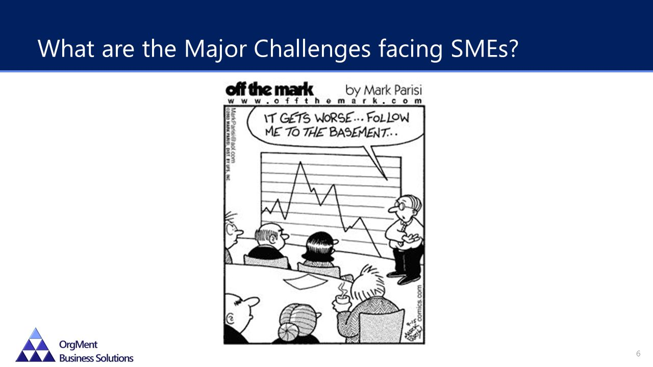 What are the Major Challenges facing SMEs 6