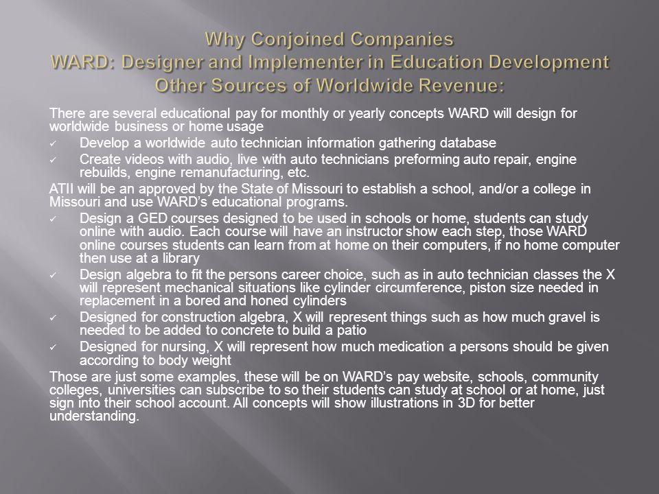 Conjoined Companies (WARD) (WARD) Web Auto Repair Database LLC A ...