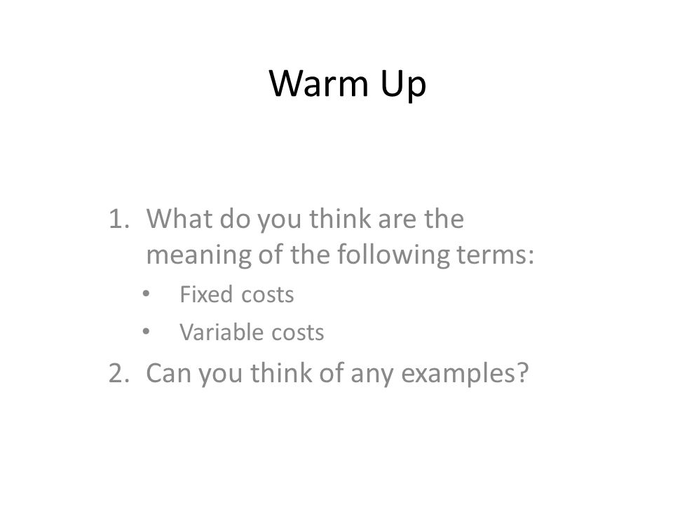 Warm Up 1what Do You Think Are The Meaning Of The Following Terms