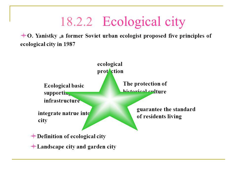 18.2.2 Ecological city O.