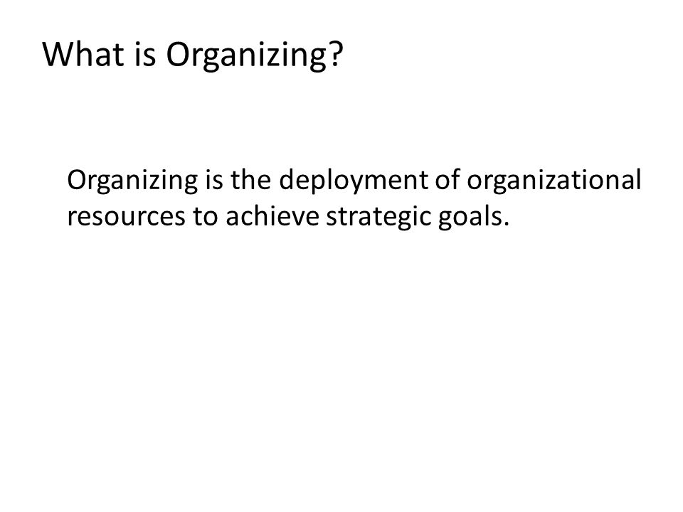 Organizing the Vertical Structure Organization Structure it is defined as; (1) a set of formal tasks assigned to individuals and departments, (2) formal reporting relationships, including lines of authority, decision responsibility, number of hierarchical levels and span of manager's control; and (3) and the design of systems to ensure effective coordination of employees across departments.