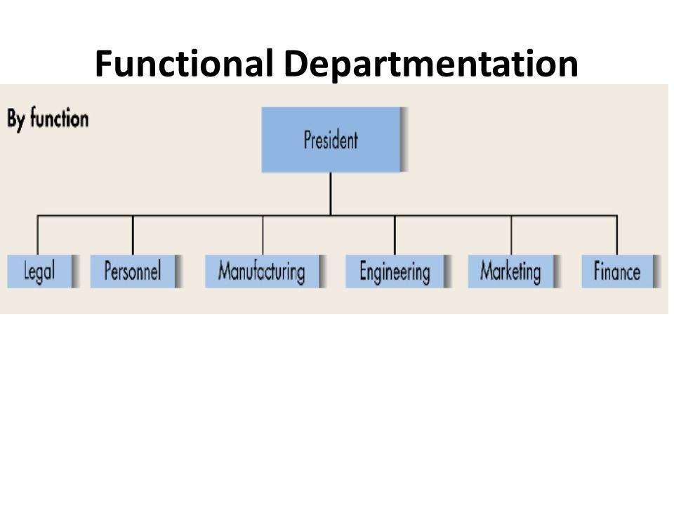Functional Departmentation