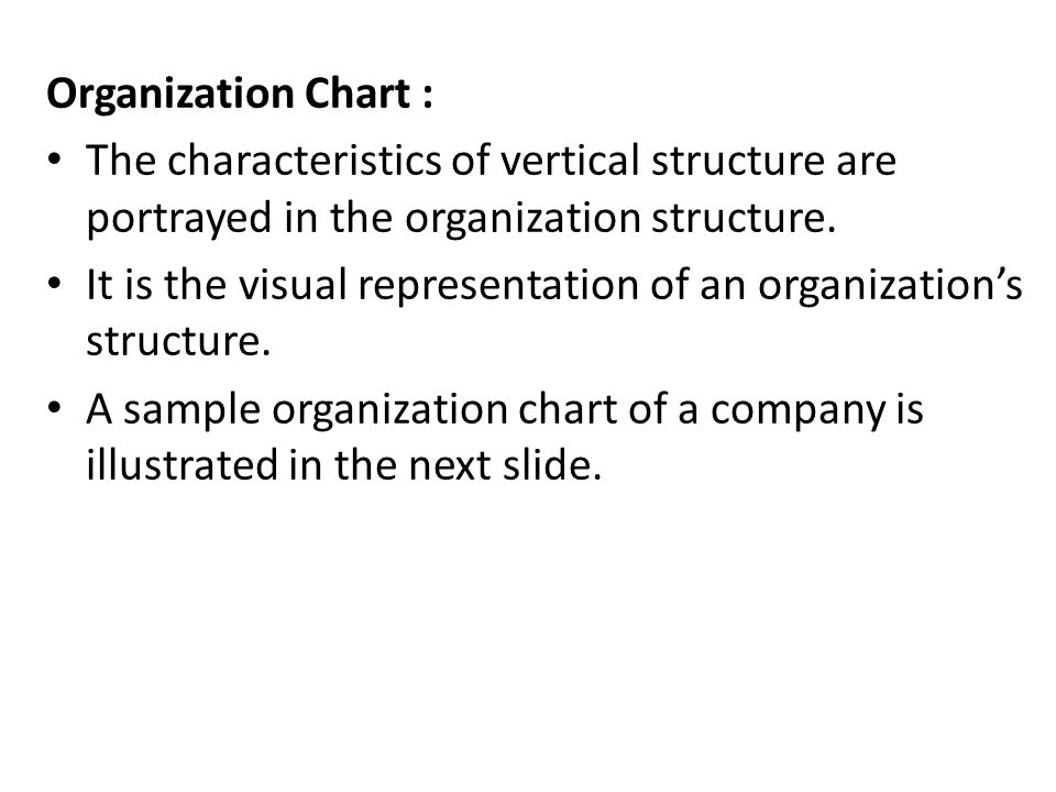 Organization Chart General manager Marketing manager production manager Personnel manager finance manager R & D manager Creativity Advertising sales purchasing Plant Supervisor Maintain ance Quality control
