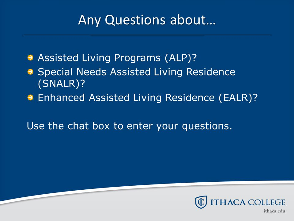 Long Term Care Levels of Care Personal Options and Regulatory