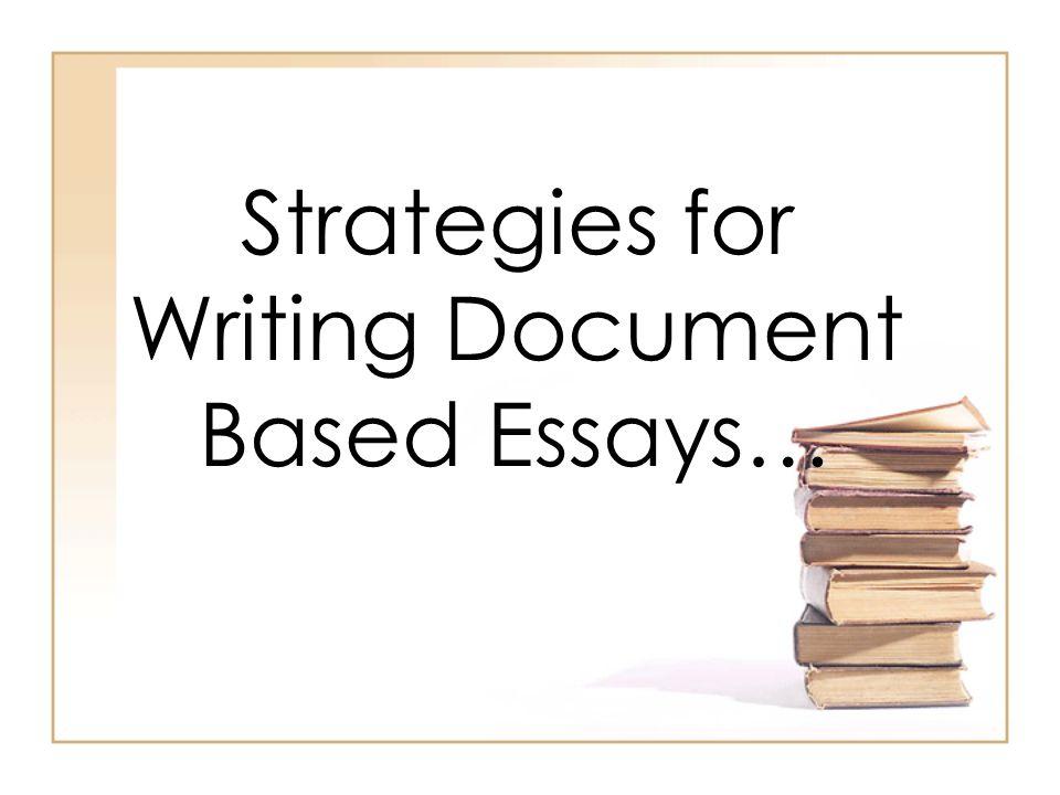 Document based essay