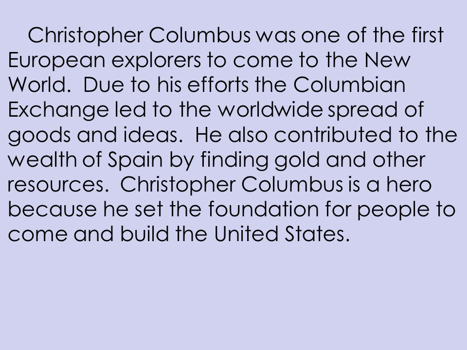 the true story of christopher columbus essay