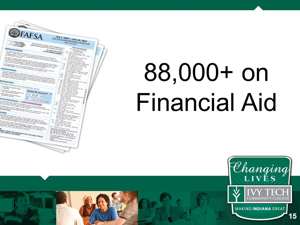 88,000+ on Financial Aid 15