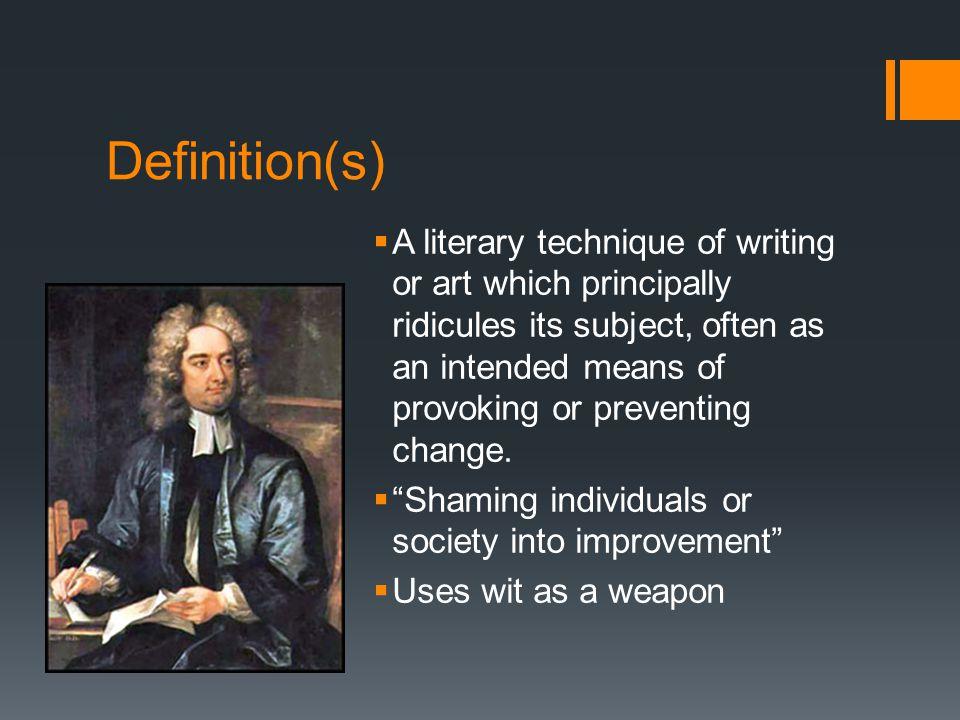 satire definition english