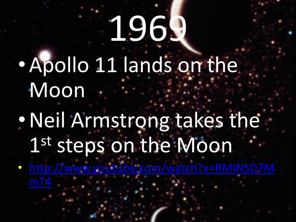 1969 Apollo 11 lands on the Moon Neil Armstrong takes the 1 st steps on the Moon   v=RMINSD7M mT4   v=RMINSD7M mT4