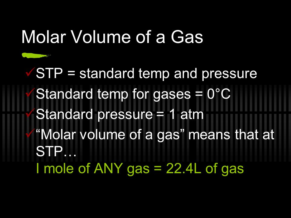 molar volume of a gas essay Purpose: the purpose of this lab was to learn how to correct the measured volume of a gas collected over water to the stp volume of the dry gas.