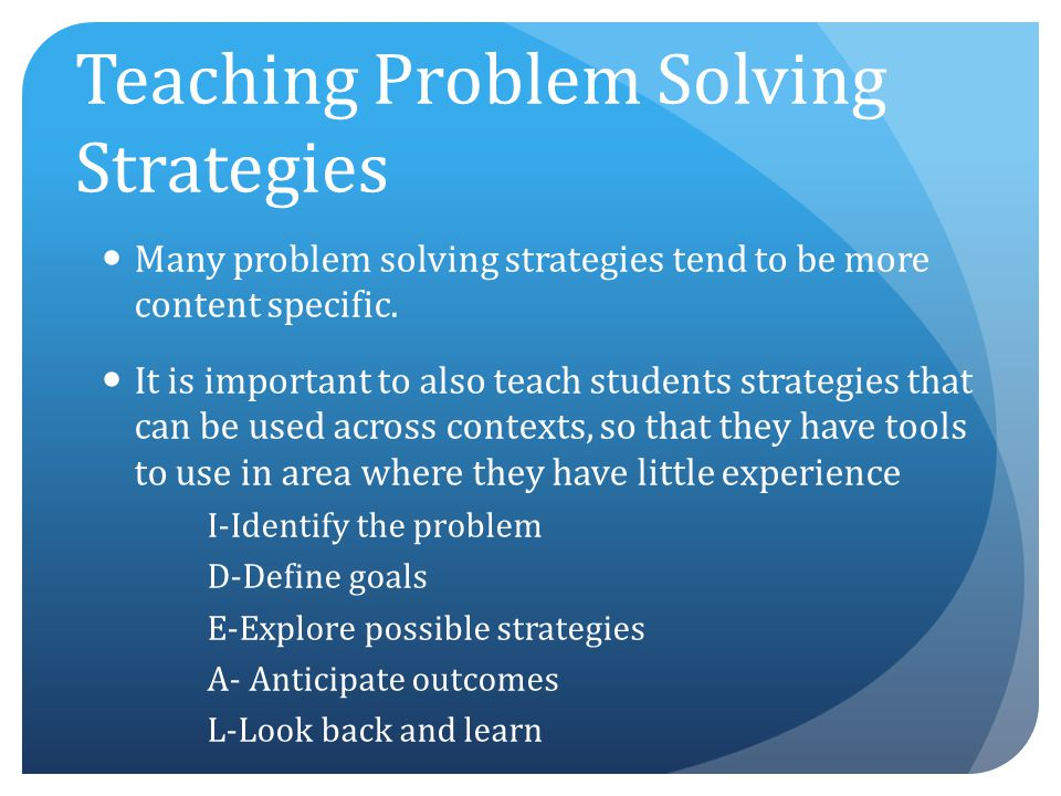 instructional strategies for critical thinking and problem solving Can you make kids smarter by teaching them principles of logic, reasoning, and hypothesis testing yes learn how teaching critical thinking to kids can boost iq and enhance problem-solving skills.