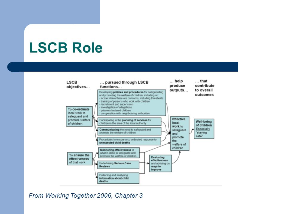 LSCB Role From Working Together 2006, Chapter 3