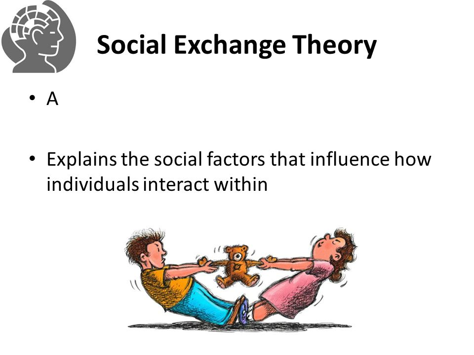 Social Exchange Theory A Explains the social factors that influence how individuals interact within