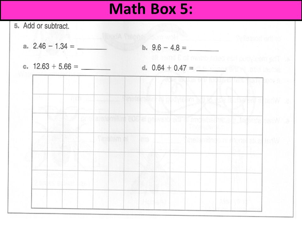 math worksheet : everyday math grade 5 math boxes  everyday mathematicseveryday  : Everyday Math Grade 5 Worksheets