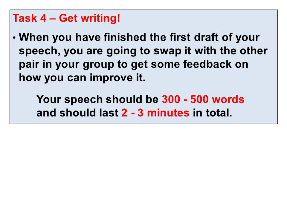 words in a 3 minute speech