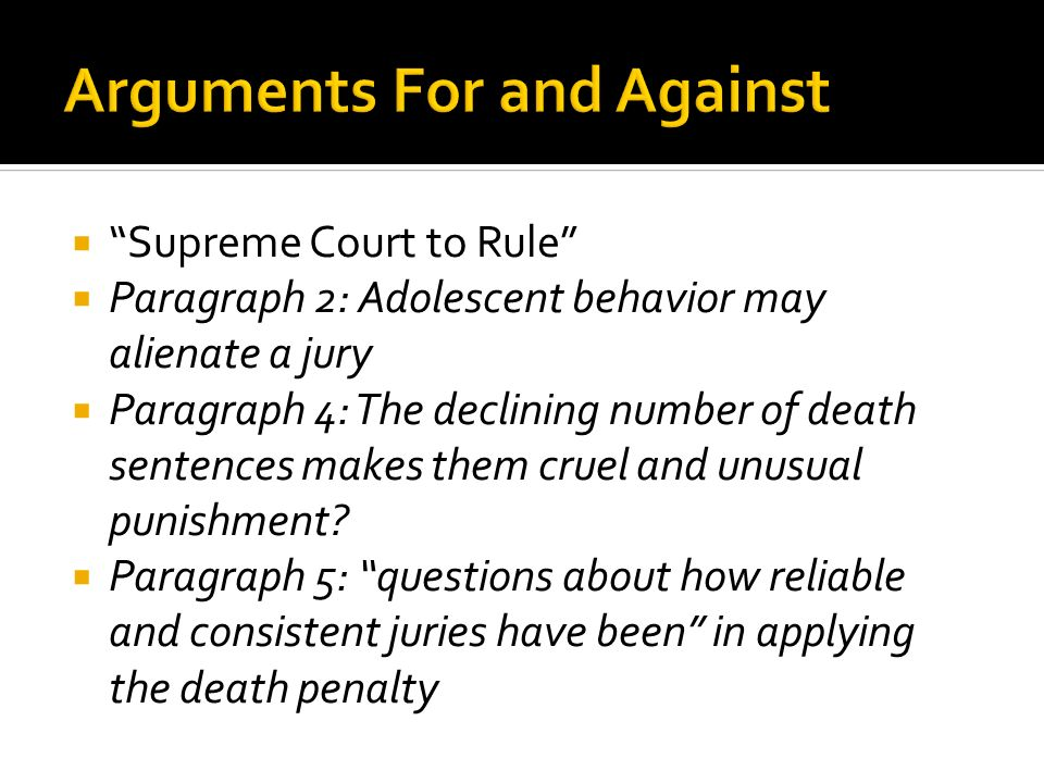 argument against death penalty essay