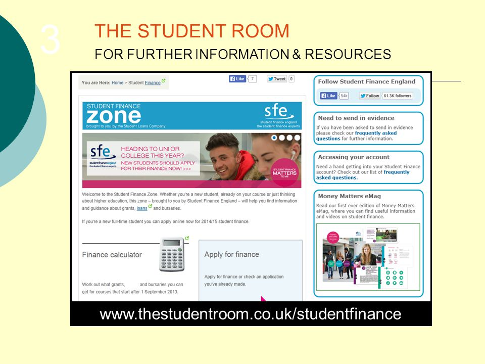 THE STUDENT ROOM FOR FURTHER INFORMATION & RESOURCES 3