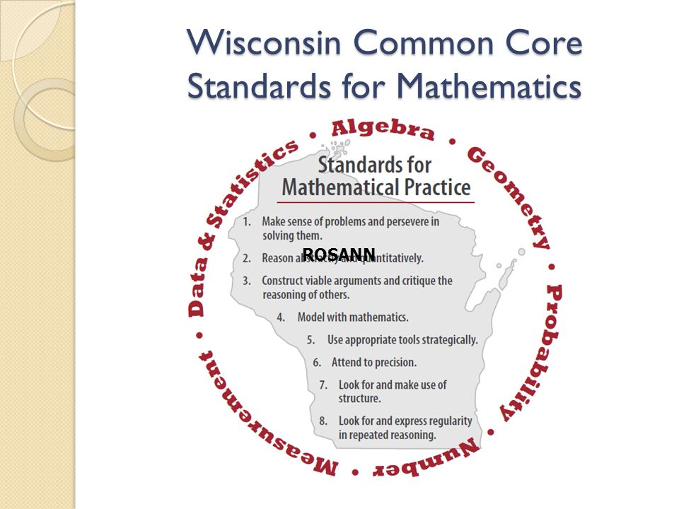 Wisconsin Common Core Standards for Mathematics ROSANN
