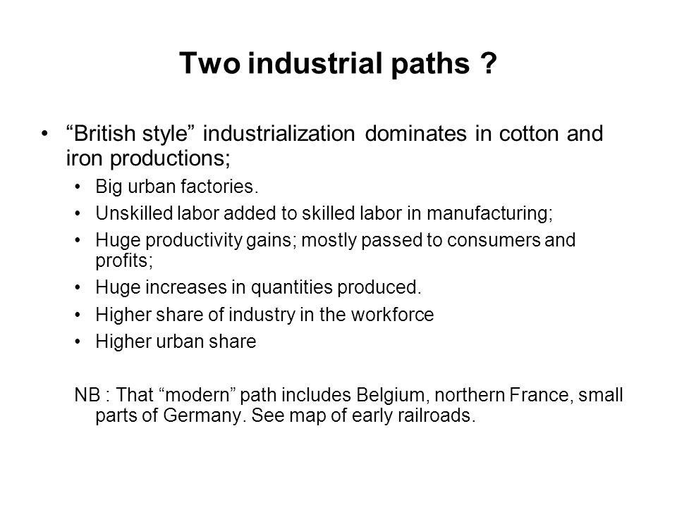 Two industrial paths .