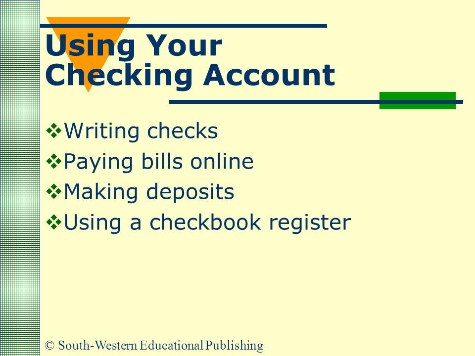 online checking account register