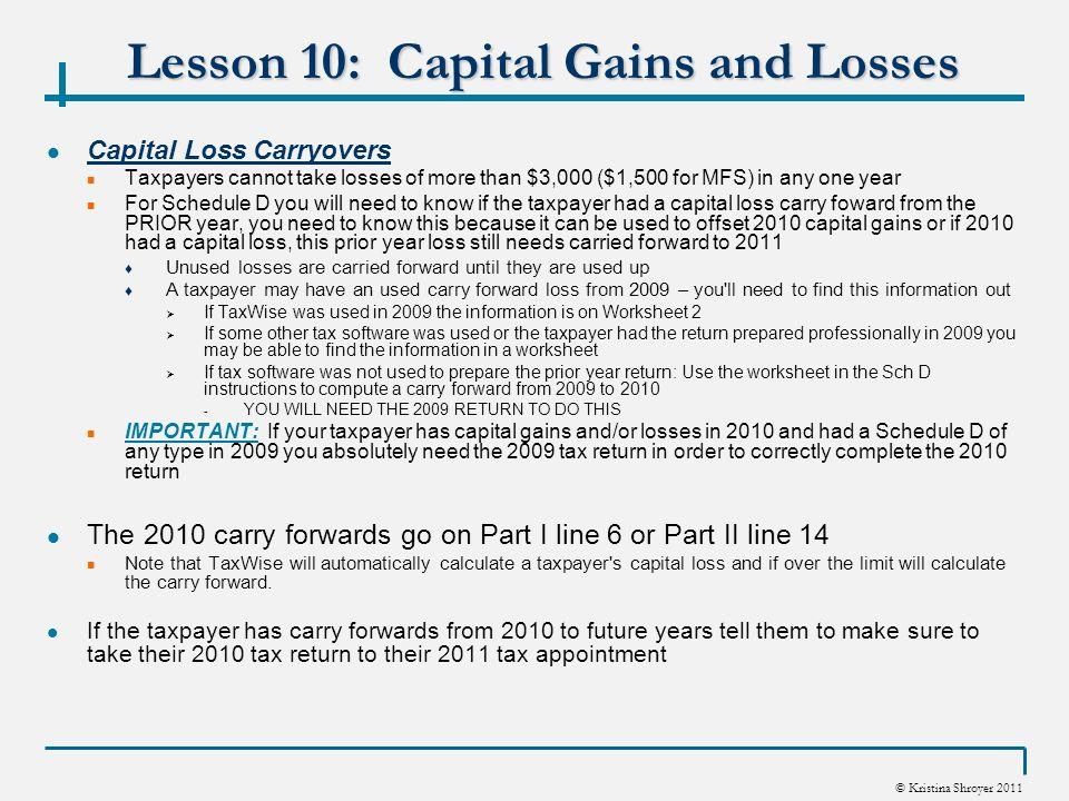 Capital Gains Loss Carryover Worksheet 2010 capital gains loss – Capital Gains Worksheet