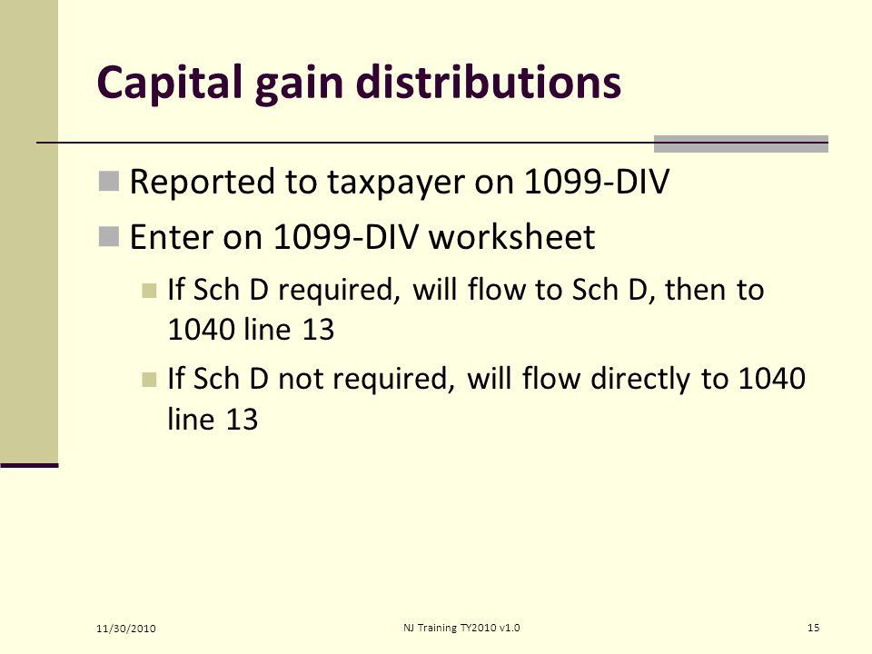 Income Capital Gain or Loss Form 1040 Line 13 Pub 4012 Tab 2 Pub – Capital Gains Worksheet