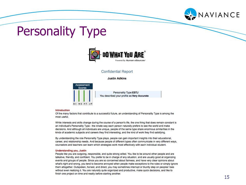 Personality Type 15