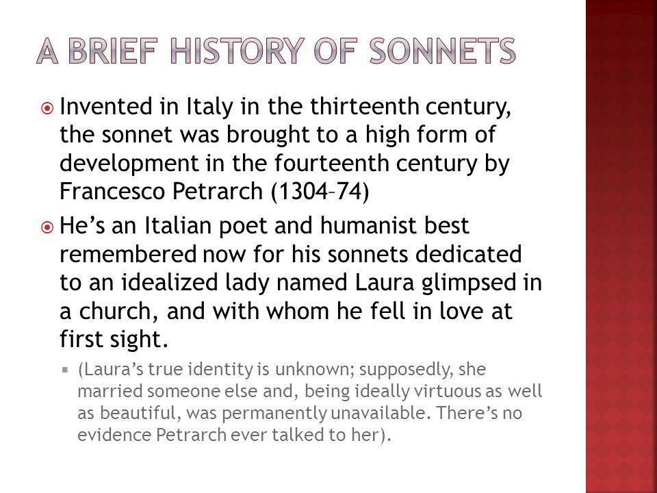 development of sonnets