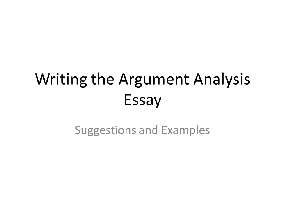 analysis writing in essay
