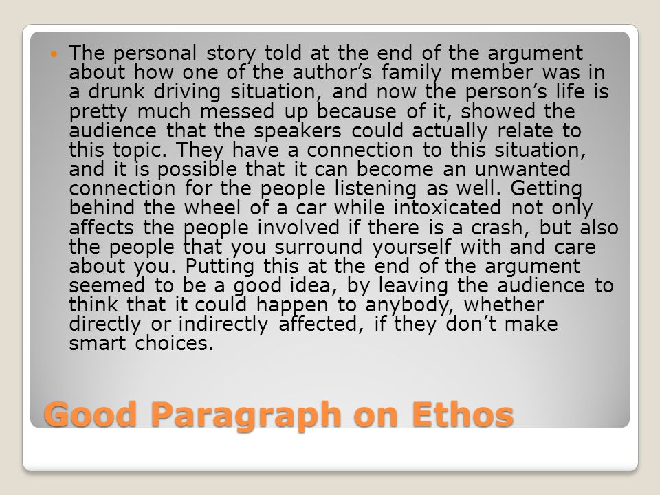 argumentative paragraph on drunk driving