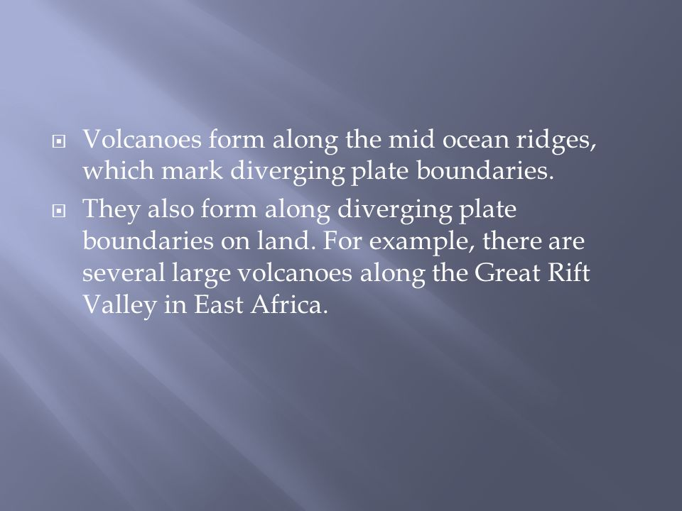 Chapter 3 – Volcanoes.  Volcanic belts from along the boundaries ...