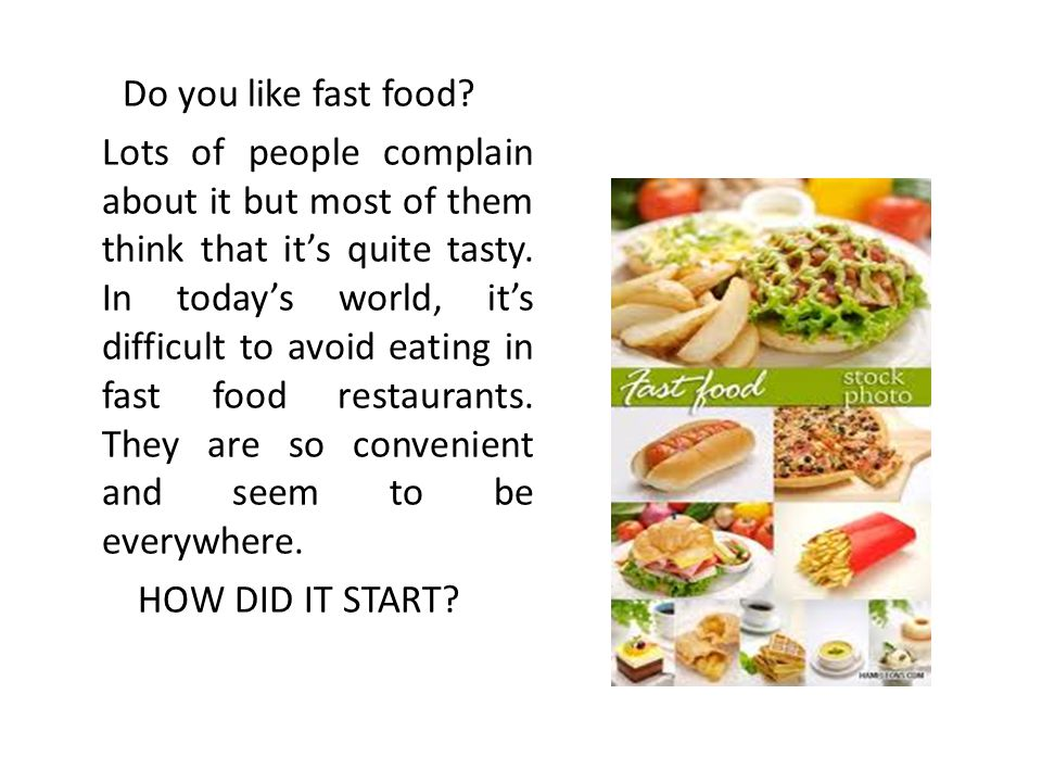 fast foods are unhealthy for teenagers essay