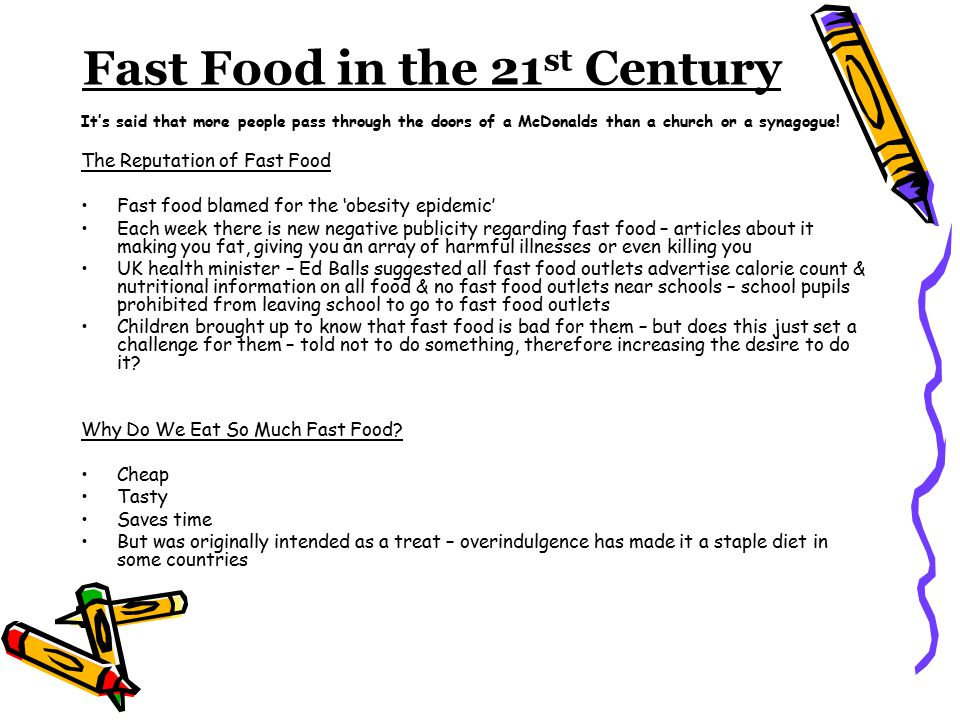 argumentative writing is fast food bad for you write an  6 fast