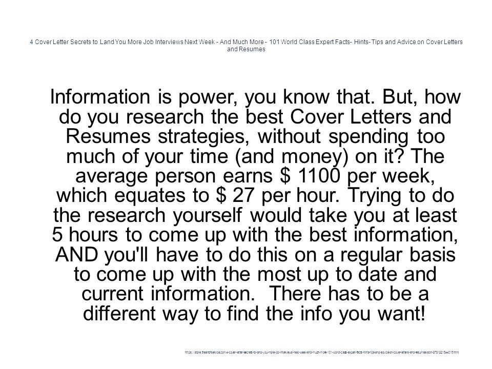Cover Letter Secrets To Land You More Job Interviews Next Week